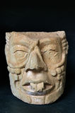 forntida mayan skulptur Arkivfoton