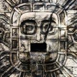 Forntida Mayan Waterfal Royaltyfri Bild