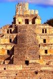 Forntida mayastad av Edzna IX Arkivbilder