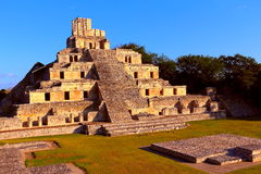 Forntida mayastad av Edzna VII Fotografering för Bildbyråer