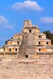 Forntida mayastad av Edzna XIII Fotografering för Bildbyråer
