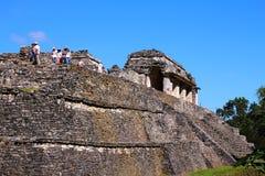 Forntida mayastad av Palenque VII Arkivfoton