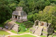 Forntida mayastad av Palenque XVIII Arkivfoto