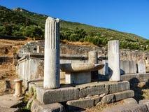 Forntida Messini fördärvar, Messinia, Grekland Arkivfoto