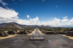 Forntida mexikansk stad nära Mexico-stad Arkivbild