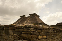 Forntida mexikanska pyramider Arkivbilder