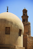 forntida minaretmoské Royaltyfria Foton