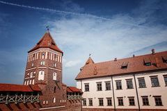 Forntida Mir Castle Fotografering för Bildbyråer