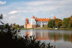 Forntida Mir Castle Royaltyfria Foton