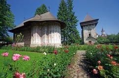 forntida moldavia kloster Royaltyfria Bilder