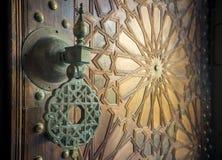 Forntida moroccan dörrar Royaltyfria Bilder