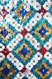 Forntida mosaik från storslagna slottväggar Royaltyfri Bild