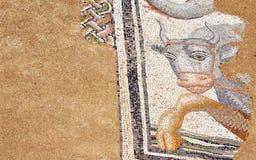 Forntida mosaik i Dion, Grekland Fotografering för Bildbyråer