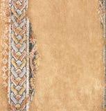 Forntida mosaik i Dion, Grekland Arkivfoton
