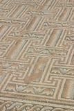 Forntida mosaik i Kourion, Cypern Arkivfoto