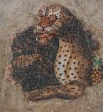 Forntida mosaiker på den arkeologiska ön av Delos Royaltyfri Fotografi