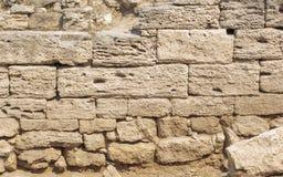 Forntida murverk av skaldjur Royaltyfria Foton