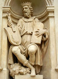 Forntida musikerstaty Royaltyfria Bilder