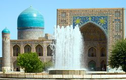 Forntida Muslimarkitekturkomplex, Uzbekistan arkivfoton