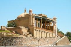 Forntida muslimsk moské Hazrat Hizr i Samarkand royaltyfri bild