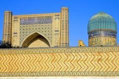 Forntida muslimska arkitektoniska komplexa Bibi-Chanum i Samarkand fotografering för bildbyråer