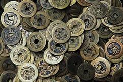 forntida mynt Fotografering för Bildbyråer