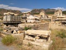 forntida necropolis en del Arkivfoton