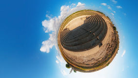 Forntida Odeon Paphos cyprus little planet Royaltyfri Fotografi