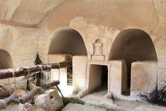 forntida olive press arkivbilder