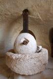 forntida olive press royaltyfri bild