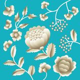 Forntida orientaliskt folk motiv för vektor av blommor Manton sjal, prydnad för broderi för spansk Manila flamenco dekorativ Trad vektor illustrationer