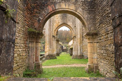 Forntida Orval abbotskloster Fotografering för Bildbyråer