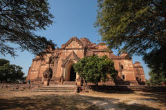 Forntida pagod, Bagan stad, Myanmar Arkivfoton