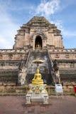 Forntida pagod på Wat Chedi Luang Arkivfoton