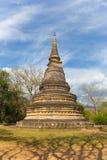 Forntida pagod på Wat Umong Arkivbilder