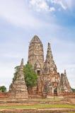 Forntida pagoda i förstört gammalt tempel Arkivbilder