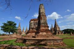 Forntida pagoda och blå sky Arkivfoton