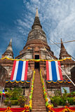forntida pagoda thailand Royaltyfri Bild