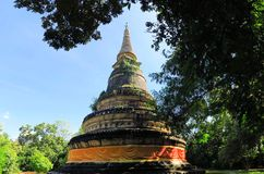 forntida pagoda Wat UMong Chiangmai, Thailand Royaltyfri Foto
