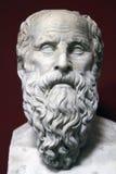 Forntida pank staty av Socrates Arkivfoto