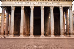 Forntida panteon i Rome, Italien Royaltyfria Bilder