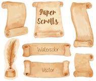 Forntida papperssnirklar för vattenfärg Royaltyfri Bild