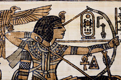 Forntida papyrus Arkivfoton