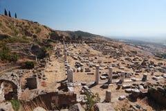 forntida pergamon fördärvar Arkivbild