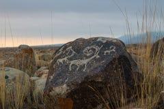 Forntida Petroglyph Royaltyfri Foto