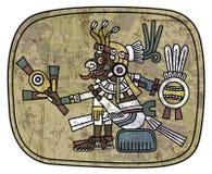 Forntida petroglyph som visar en man Arkivbild