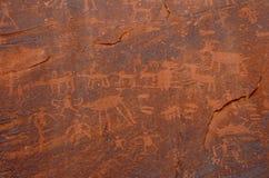forntida petroglyphs Arkivfoto