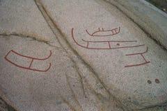 forntida petroglyphs Royaltyfri Bild