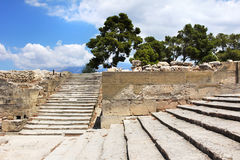 Forntida Phaistos Minoan slottplats Arkivbilder