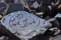 Forntida pictograms royaltyfri foto